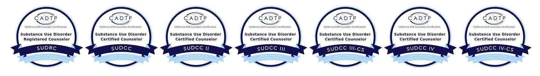 CADTP Certification Badges