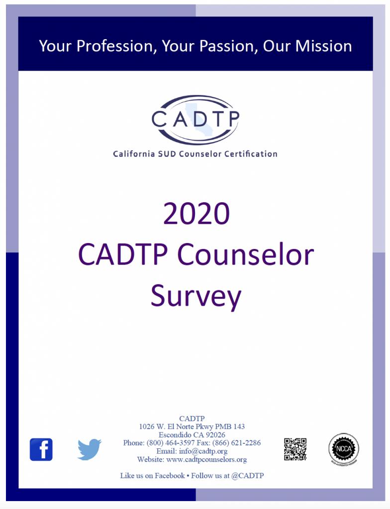 CADTP 2020 Survey